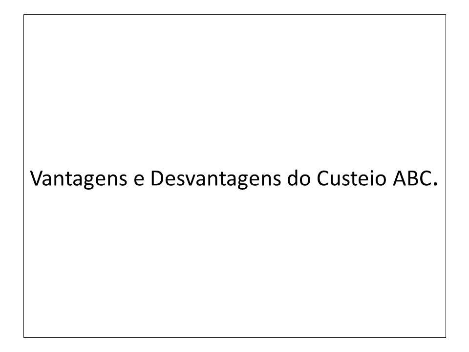 Vantagens e Desvantagens do Custeio ABC.