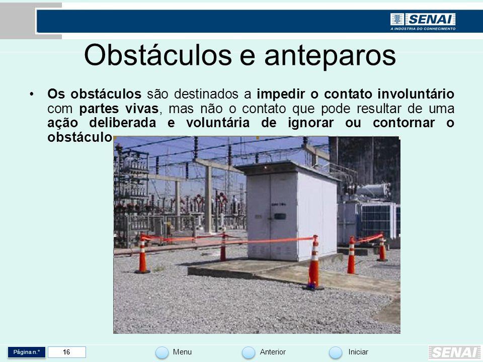 Obstáculos e anteparos