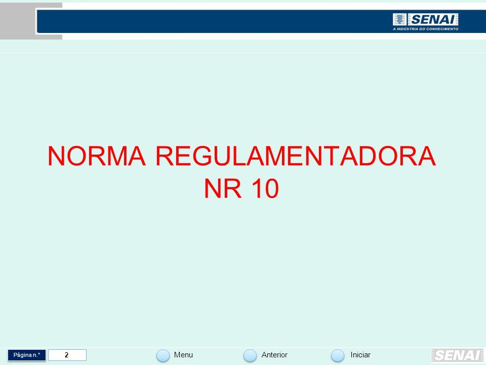 NORMA REGULAMENTADORA NR 10