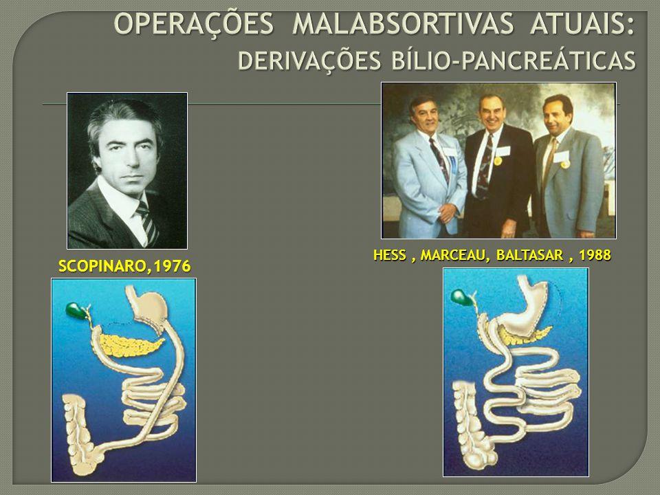 OPERAÇÕES MALABSORTIVAS ATUAIS: DERIVAÇÕES BÍLIO-PANCREÁTICAS