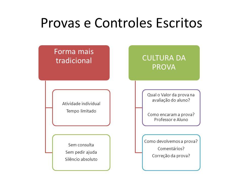 Provas e Controles Escritos