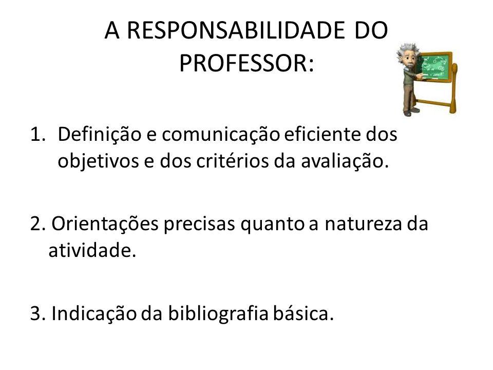 A RESPONSABILIDADE DO PROFESSOR: