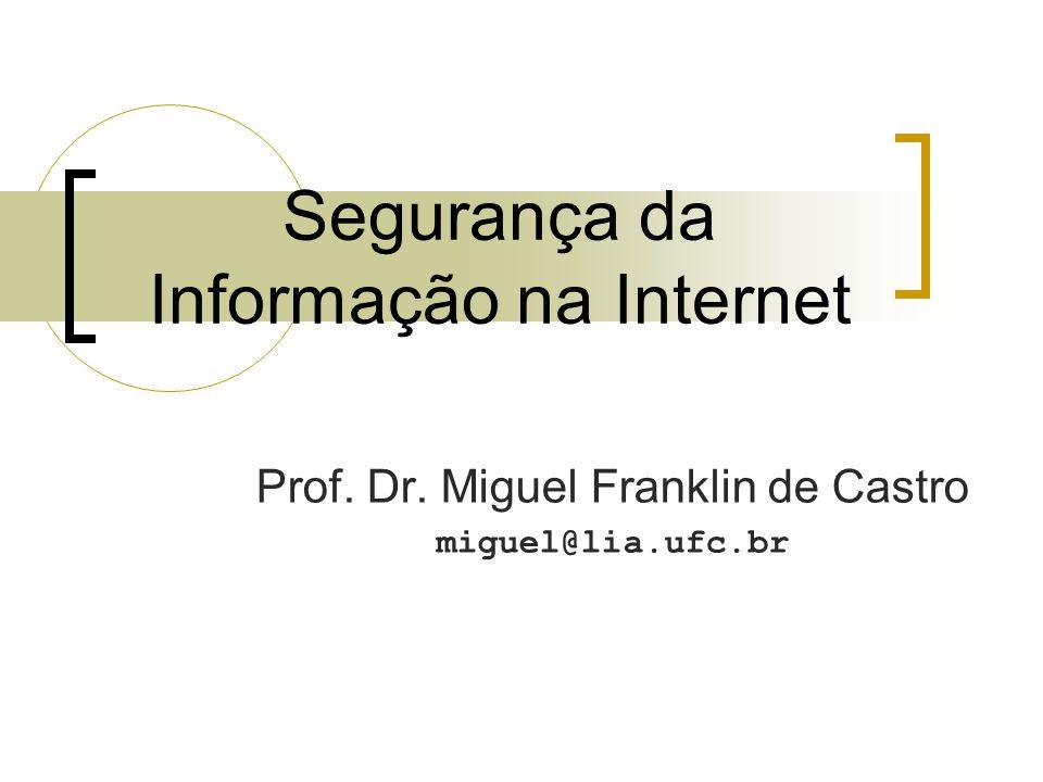 Segurança da Informação na Internet