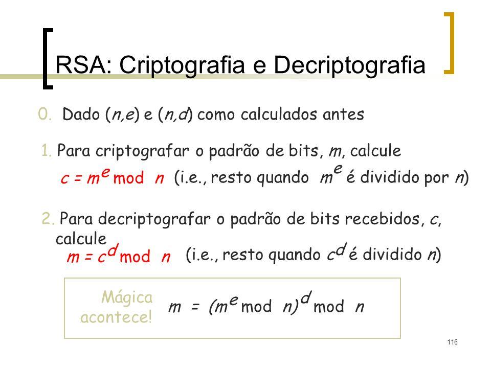 RSA: Criptografia e Decriptografia