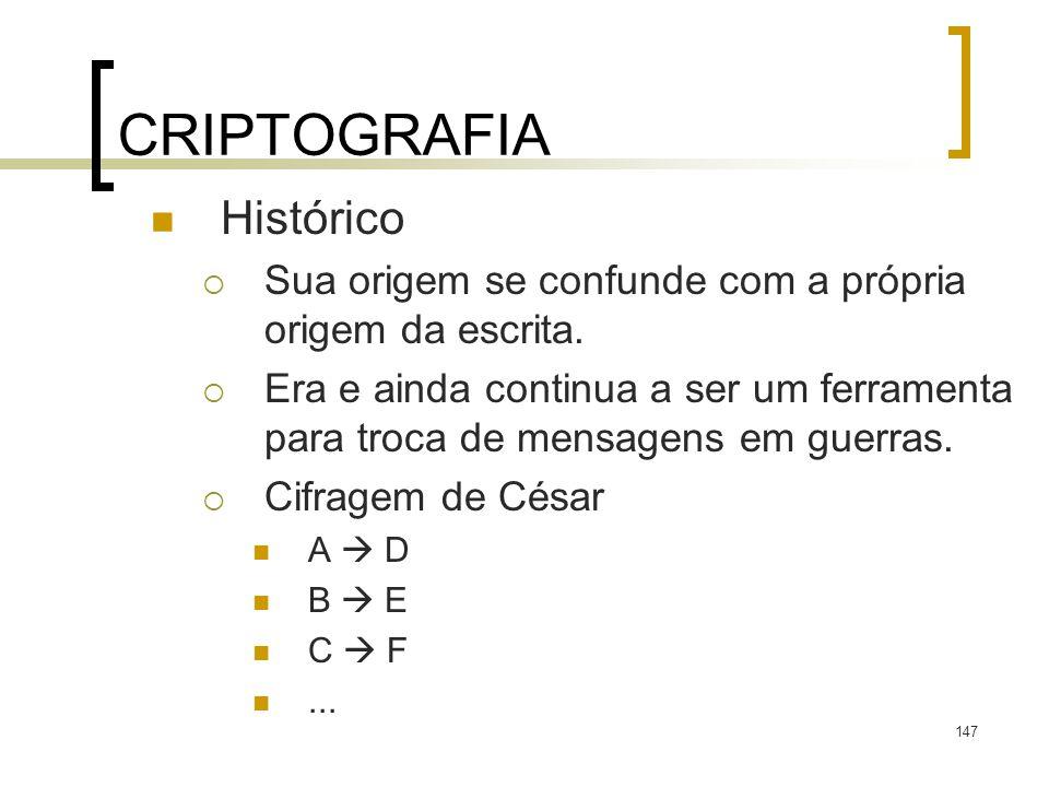 CRIPTOGRAFIA Histórico