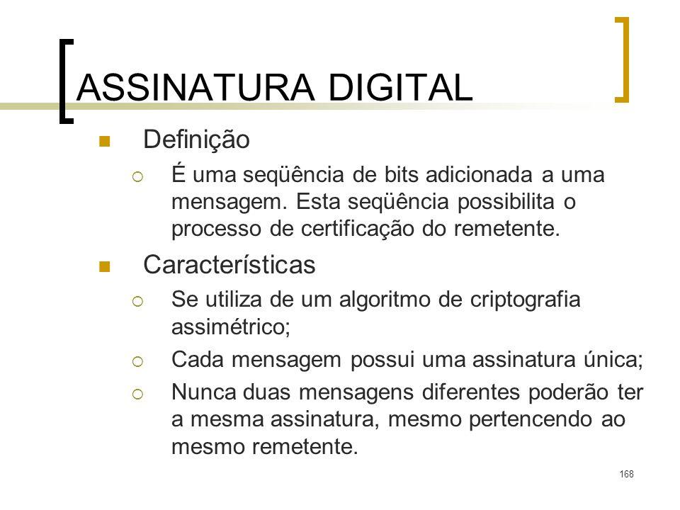 ASSINATURA DIGITAL Definição Características