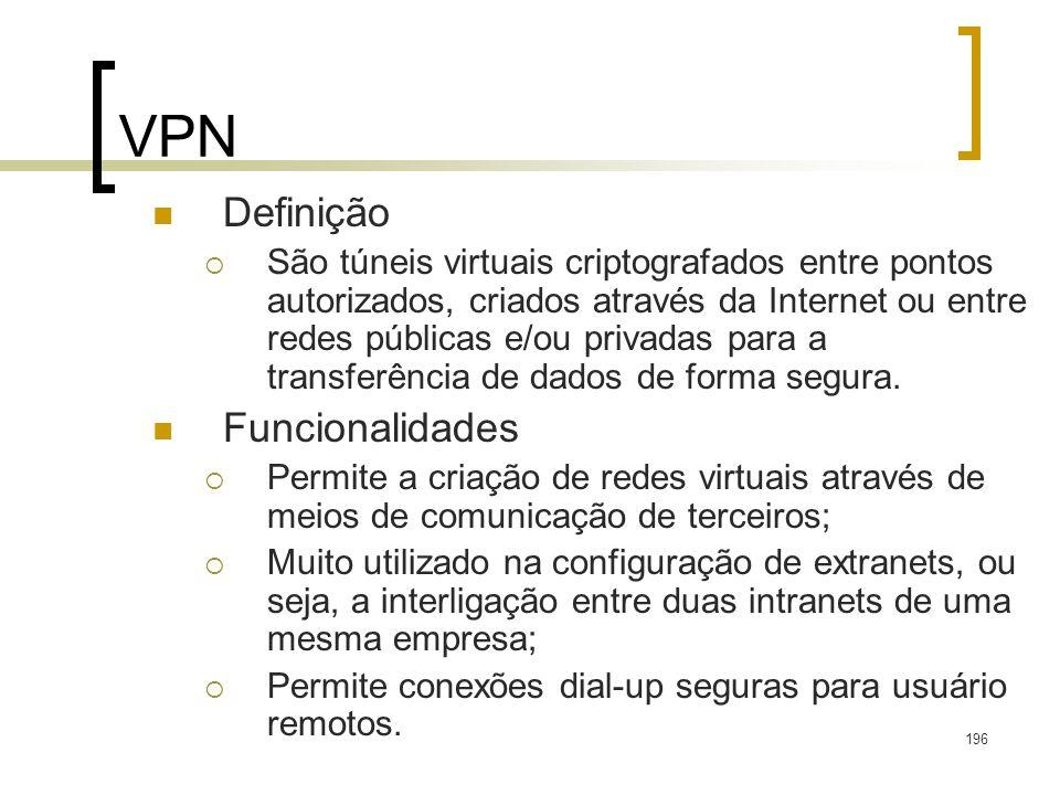 VPN Definição Funcionalidades