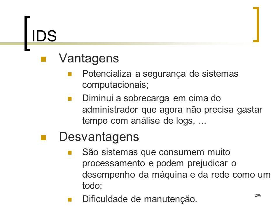 IDS Vantagens Desvantagens