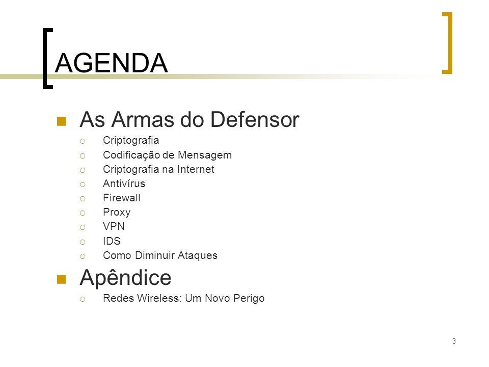 AGENDA As Armas do Defensor Apêndice Criptografia