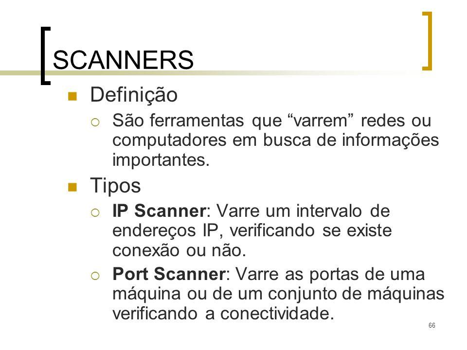 SCANNERS Definição Tipos