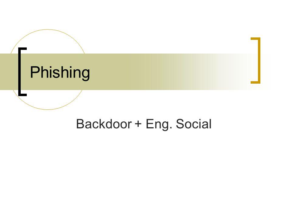 Phishing Backdoor + Eng. Social