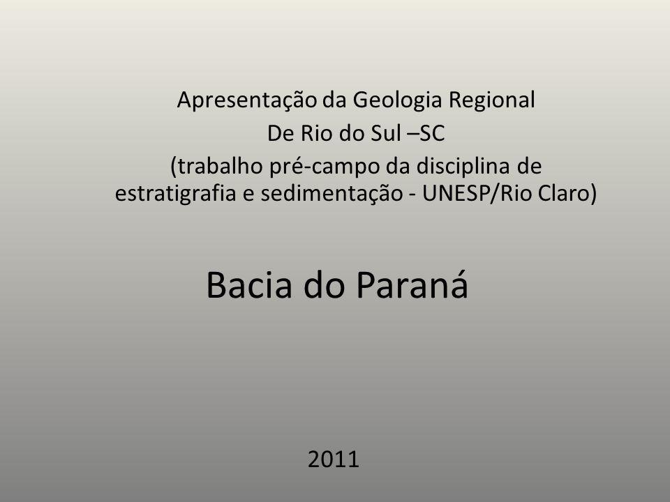 Apresentação da Geologia Regional