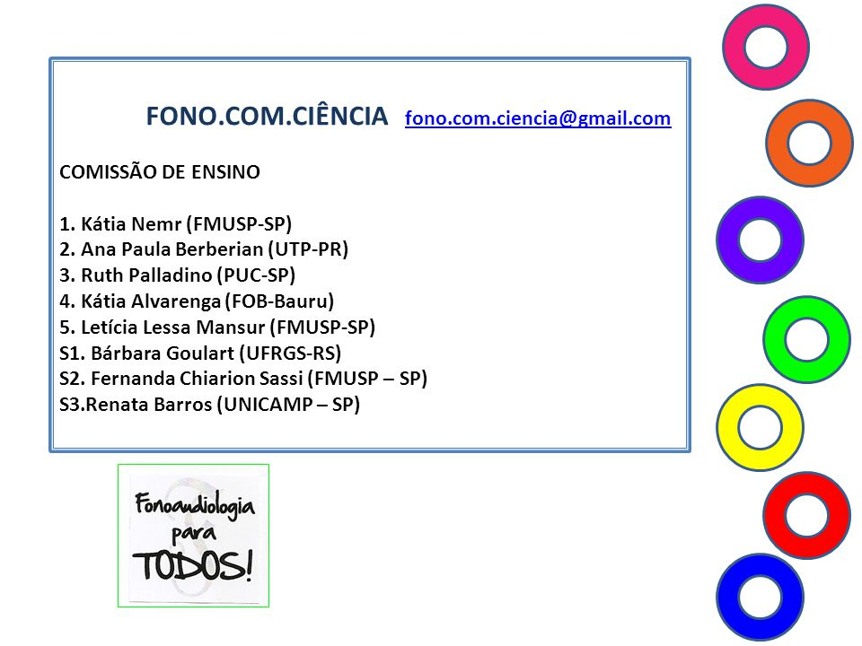 FONO.COM.CIÊNCIA fono.com.ciencia@gmail.com