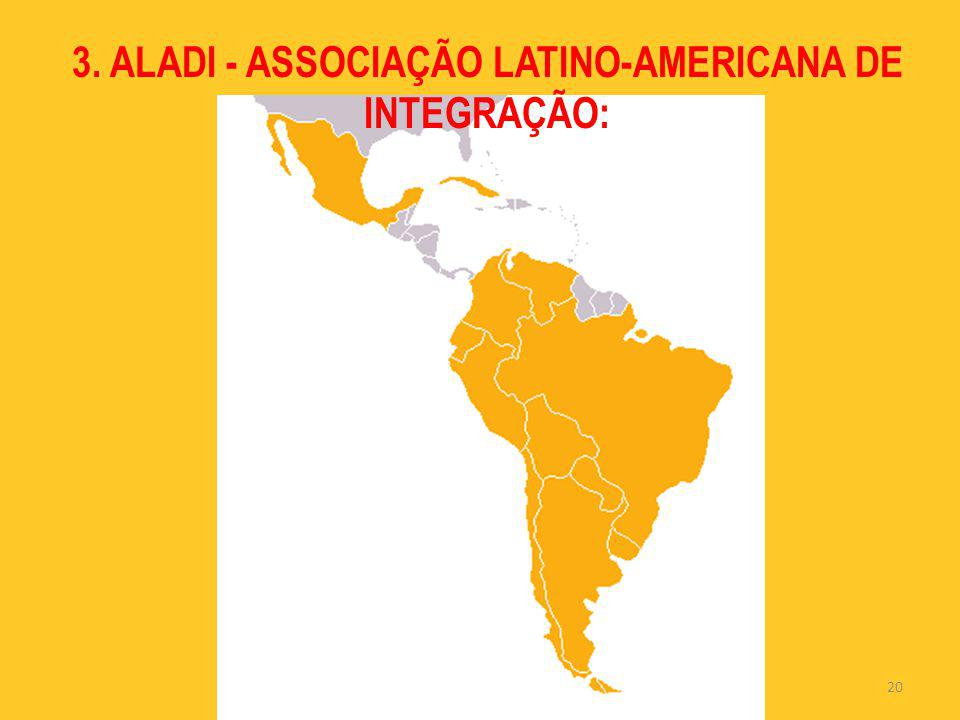 3. ALADI - ASSOCIAÇÃO LATINO-AMERICANA DE INTEGRAÇÃO: