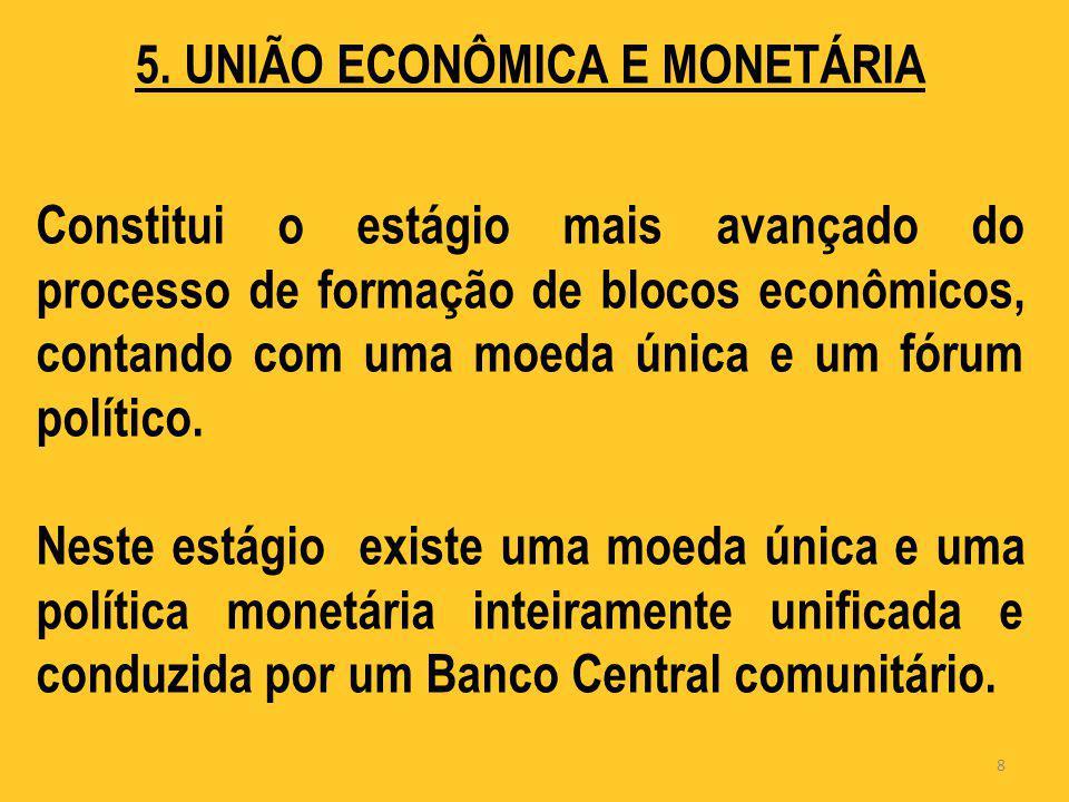5. UNIÃO ECONÔMICA E MONETÁRIA