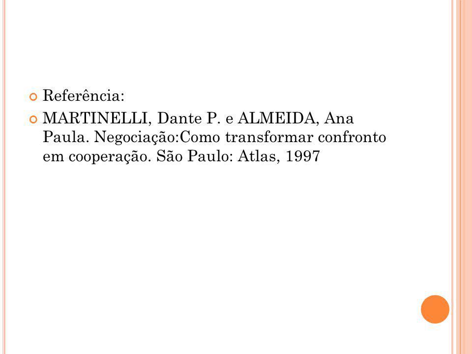 Referência: MARTINELLI, Dante P. e ALMEIDA, Ana Paula.
