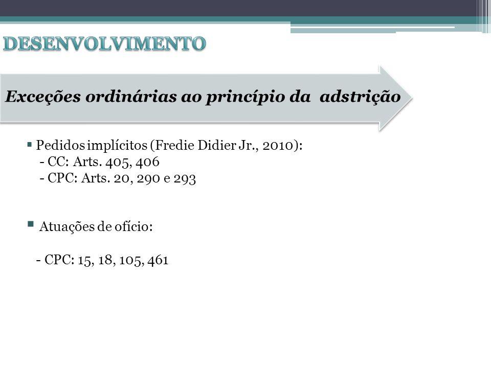 DESENVOLVIMENTO Exceções ordinárias ao princípio da adstrição