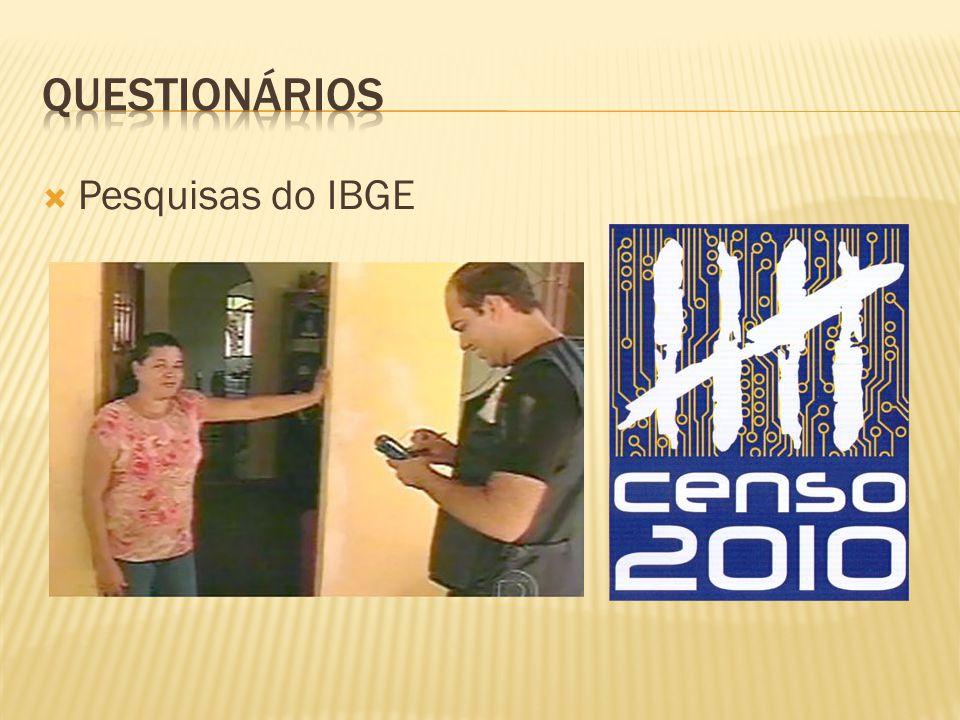 Questionários Pesquisas do IBGE