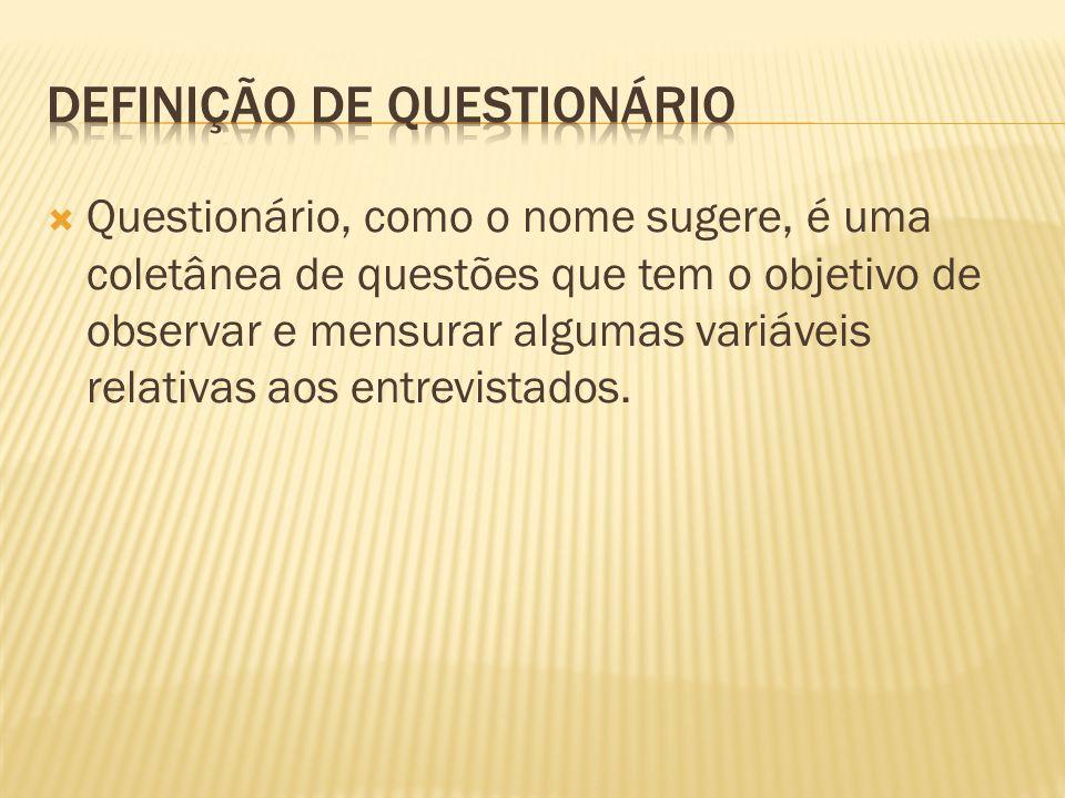 Definição de Questionário