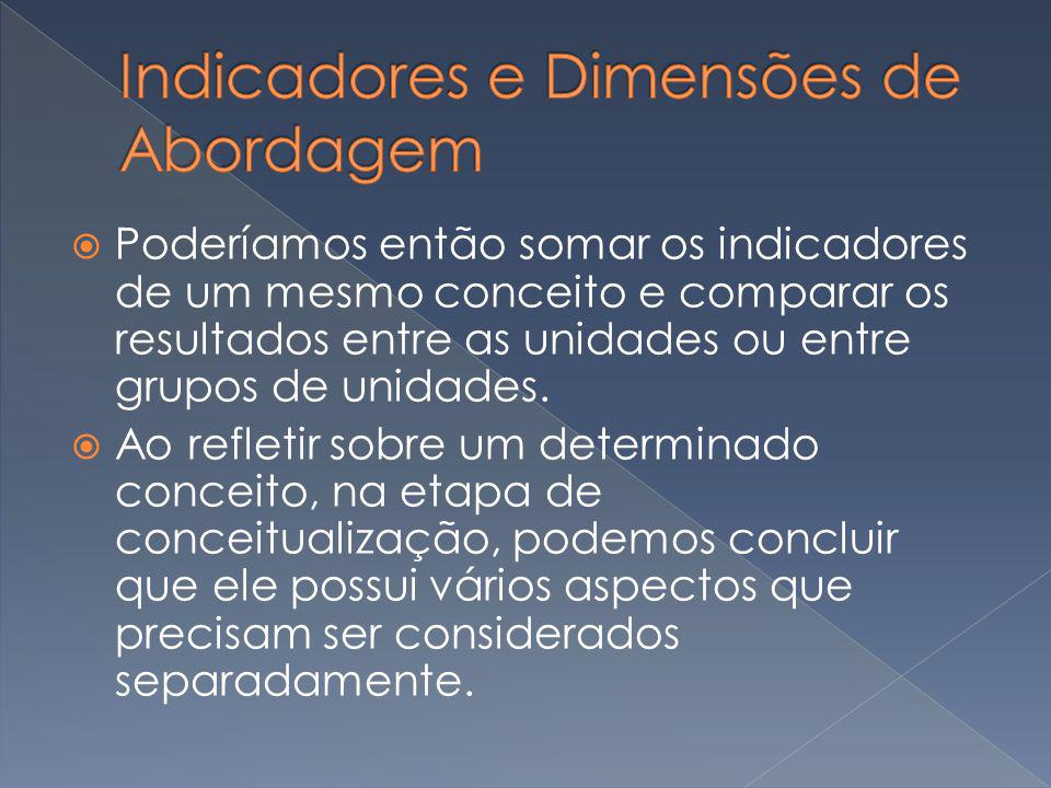 Indicadores e Dimensões de Abordagem