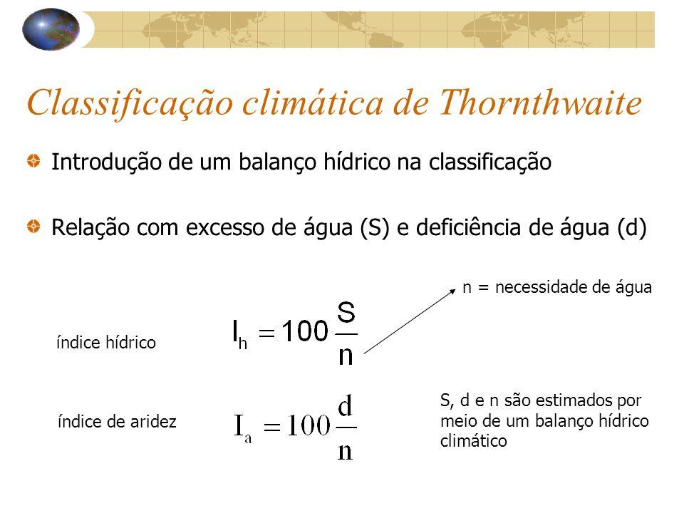 Classificação climática de Thornthwaite