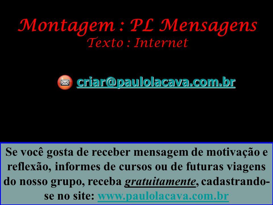 Montagem : PL Mensagens Texto : Internet