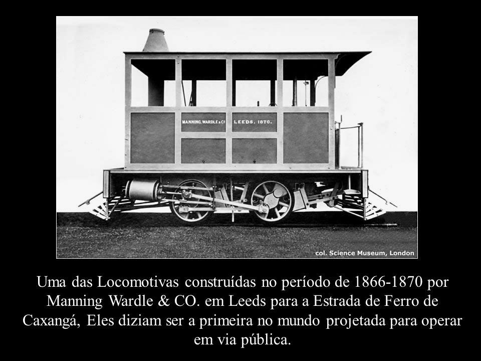 Uma das Locomotivas construídas no período de 1866-1870 por Manning Wardle & CO.