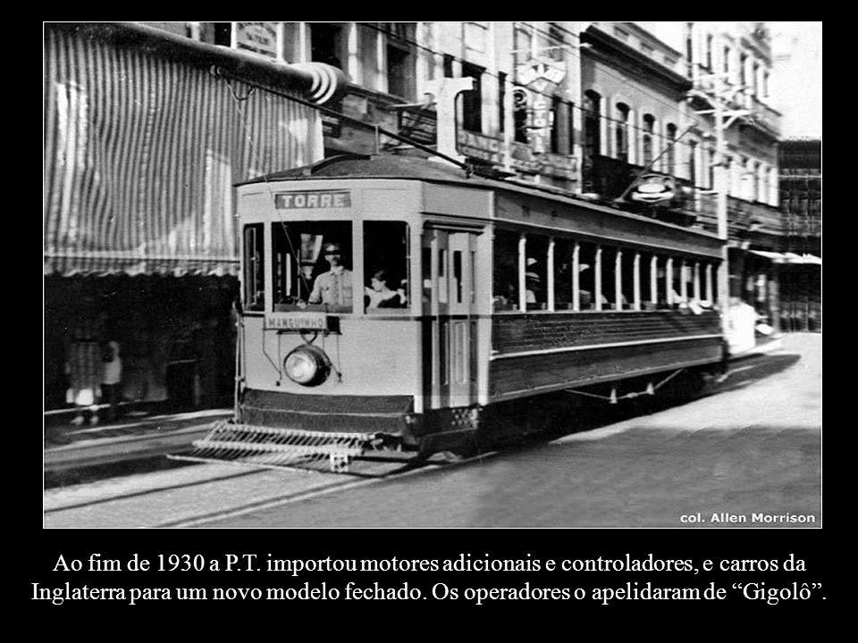 Ao fim de 1930 a P.T.