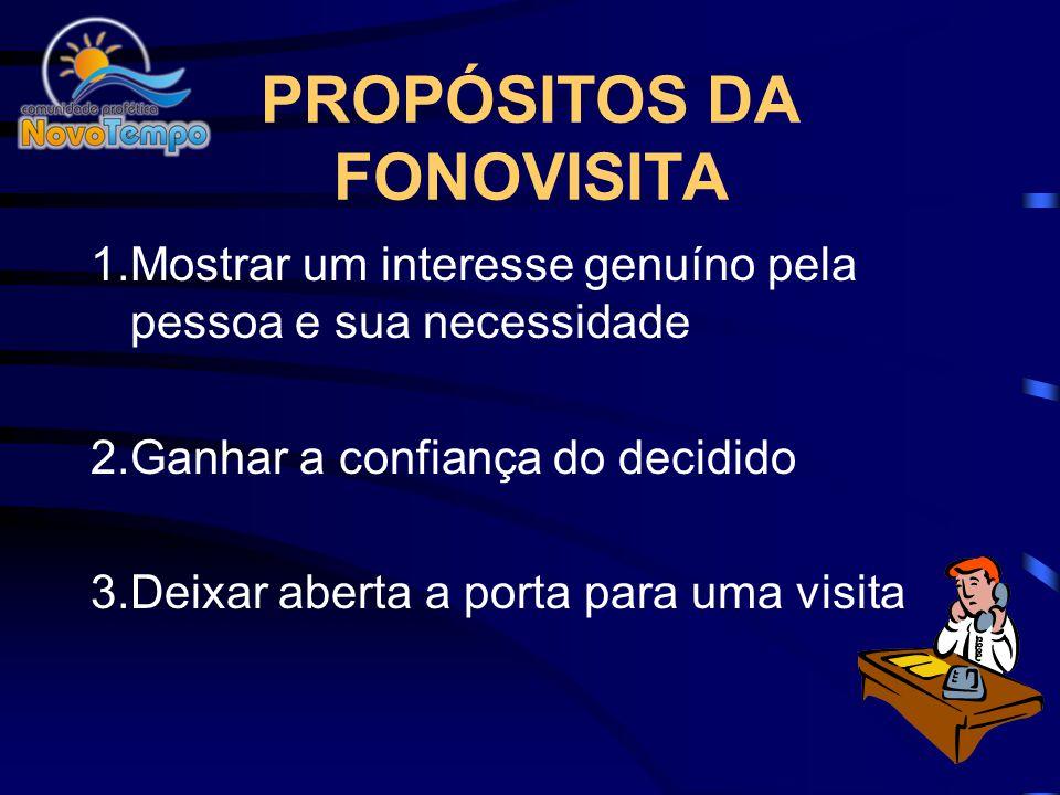 PROPÓSITOS DA FONOVISITA