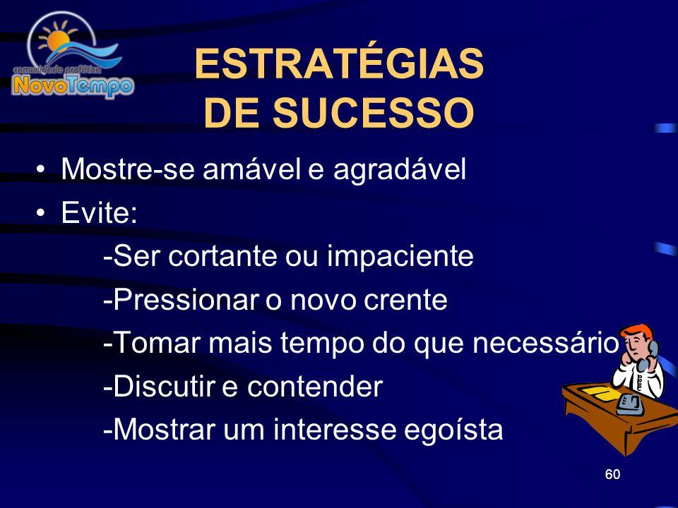 ESTRATÉGIAS DE SUCESSO