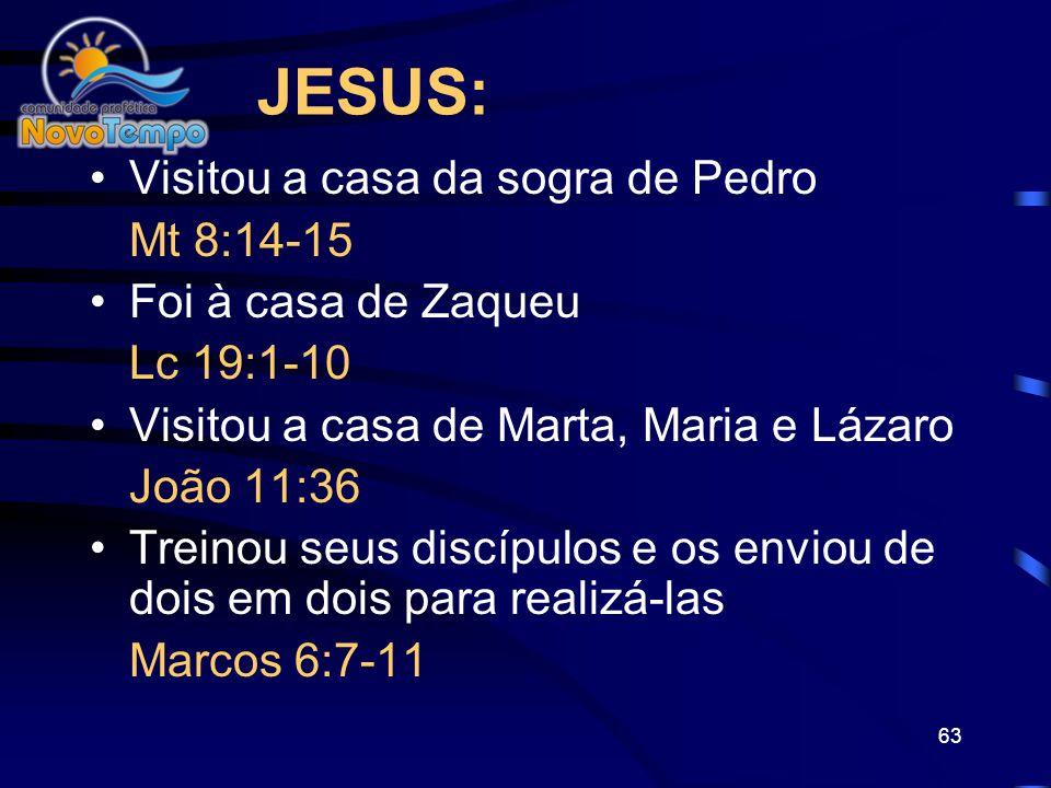 JESUS: Visitou a casa da sogra de Pedro Mt 8:14-15