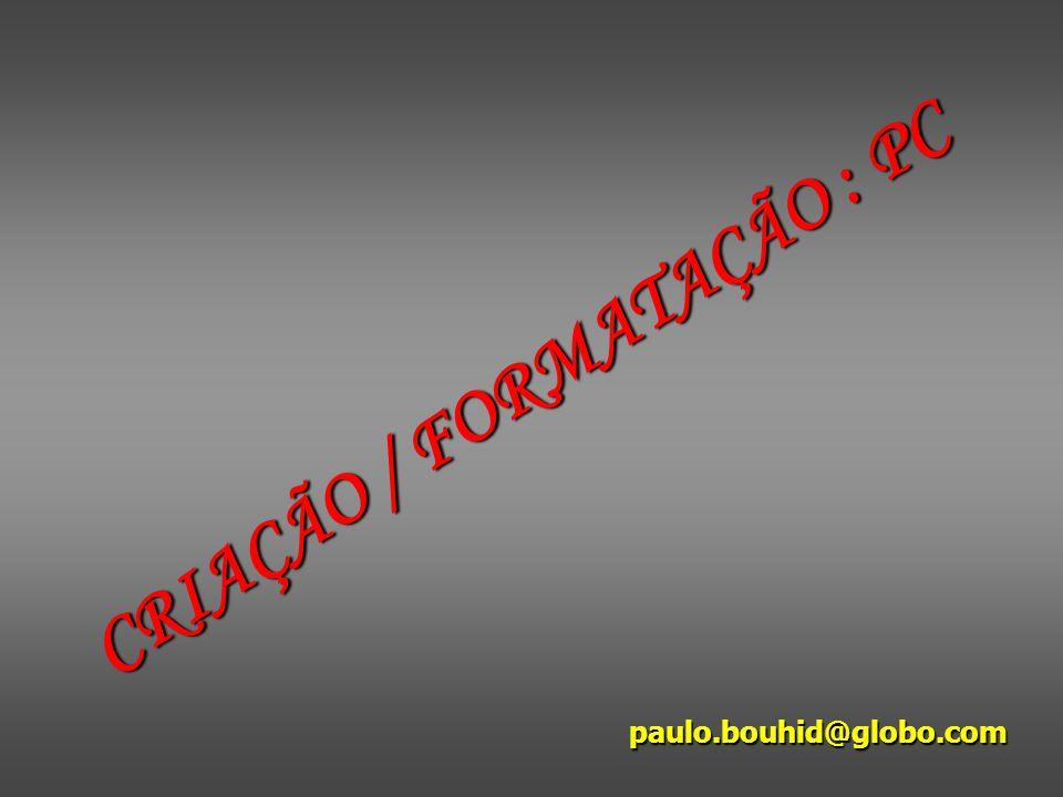 CRIAÇÃO / FORMATAÇÃO : PC