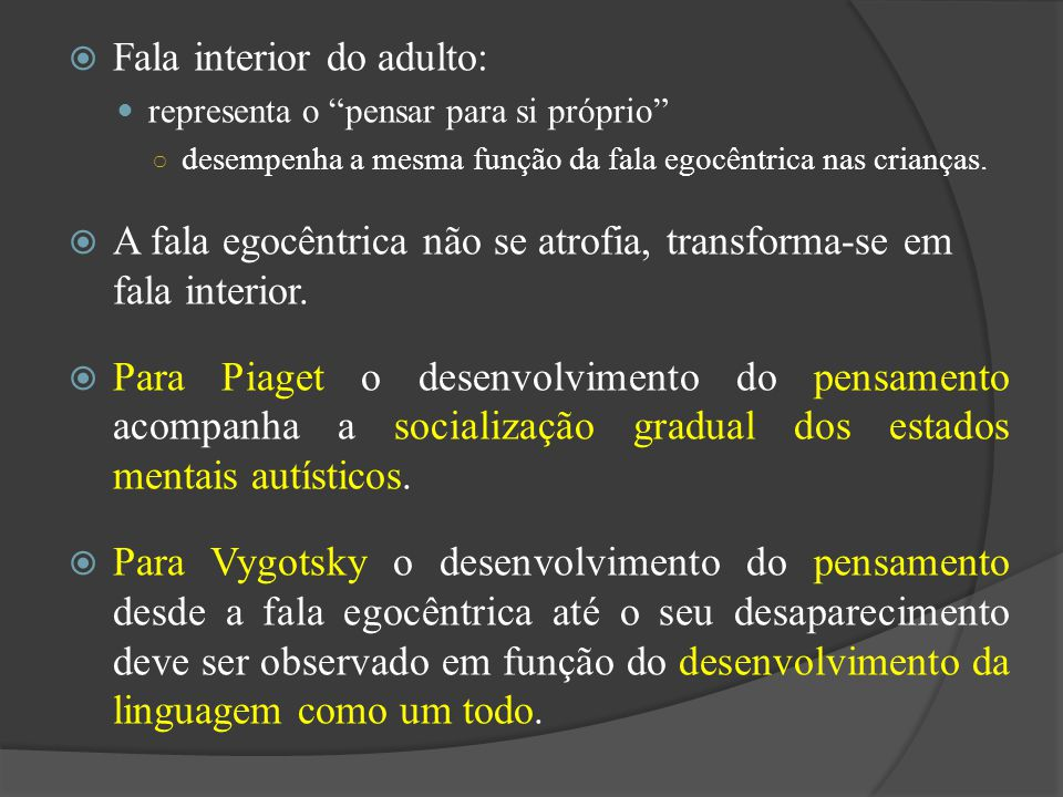 Fala interior do adulto: