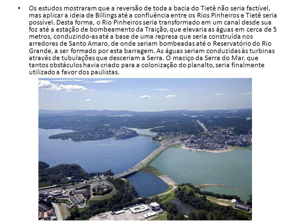 Os estudos mostraram que a reversão de toda a bacia do Tietê não seria factível, mas aplicar a ideia de Billings até a confluência entre os Rios Pinheiros e Tietê seria possível.