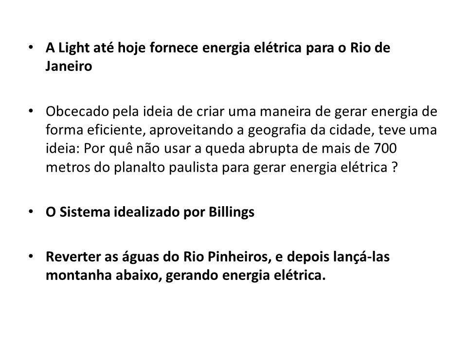 A Light até hoje fornece energia elétrica para o Rio de Janeiro