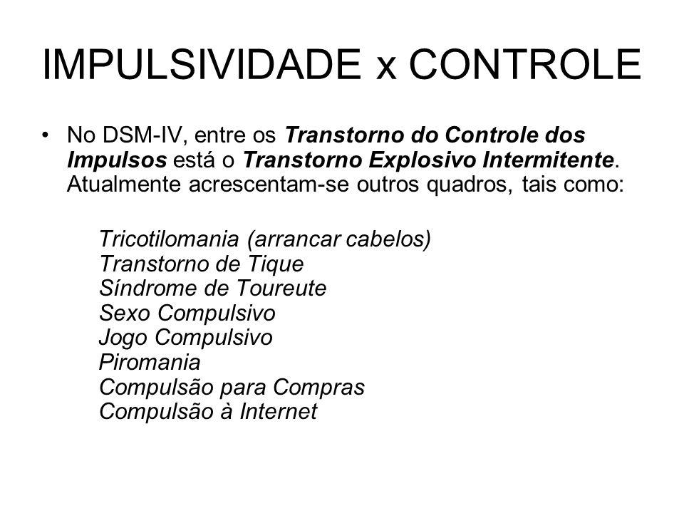 IMPULSIVIDADE x CONTROLE