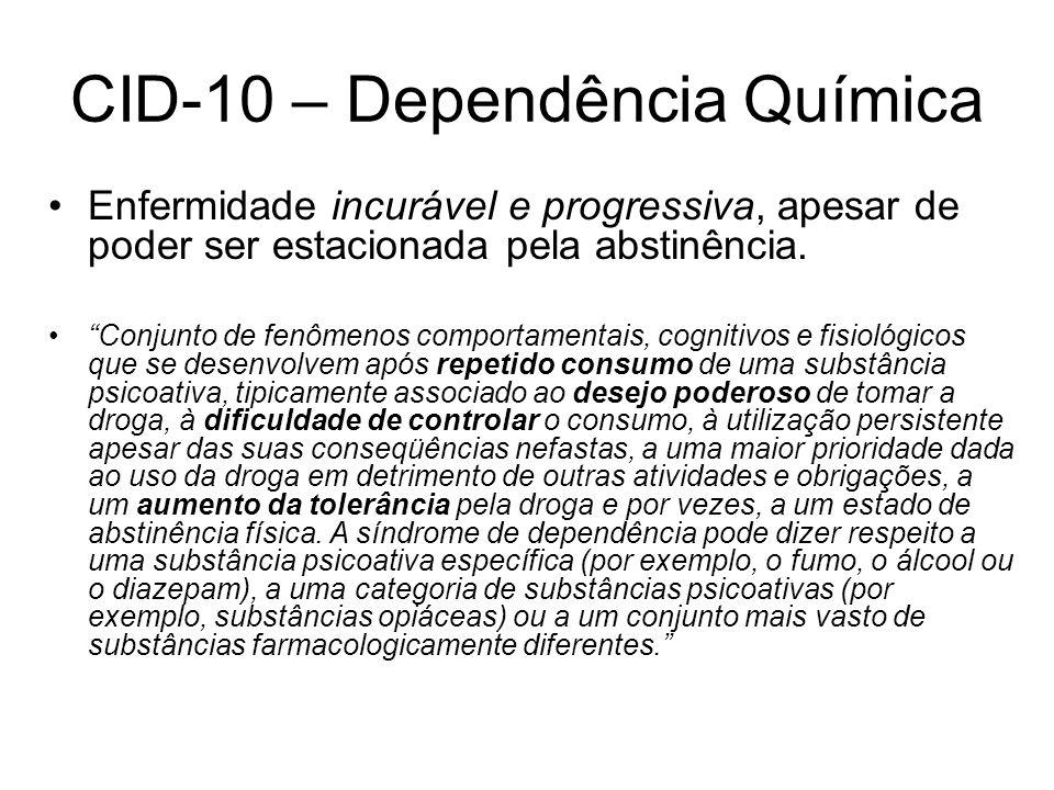 CID-10 – Dependência Química