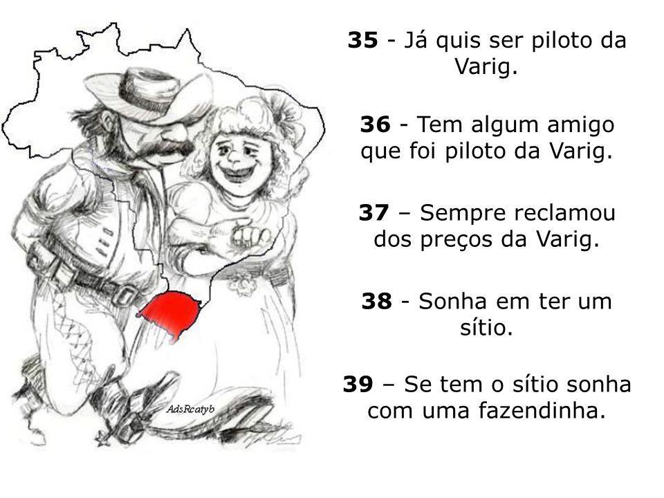 35 - Já quis ser piloto da Varig.
