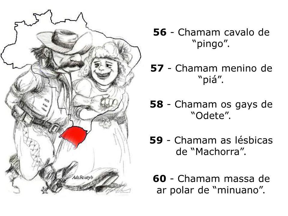 56 - Chamam cavalo de pingo .