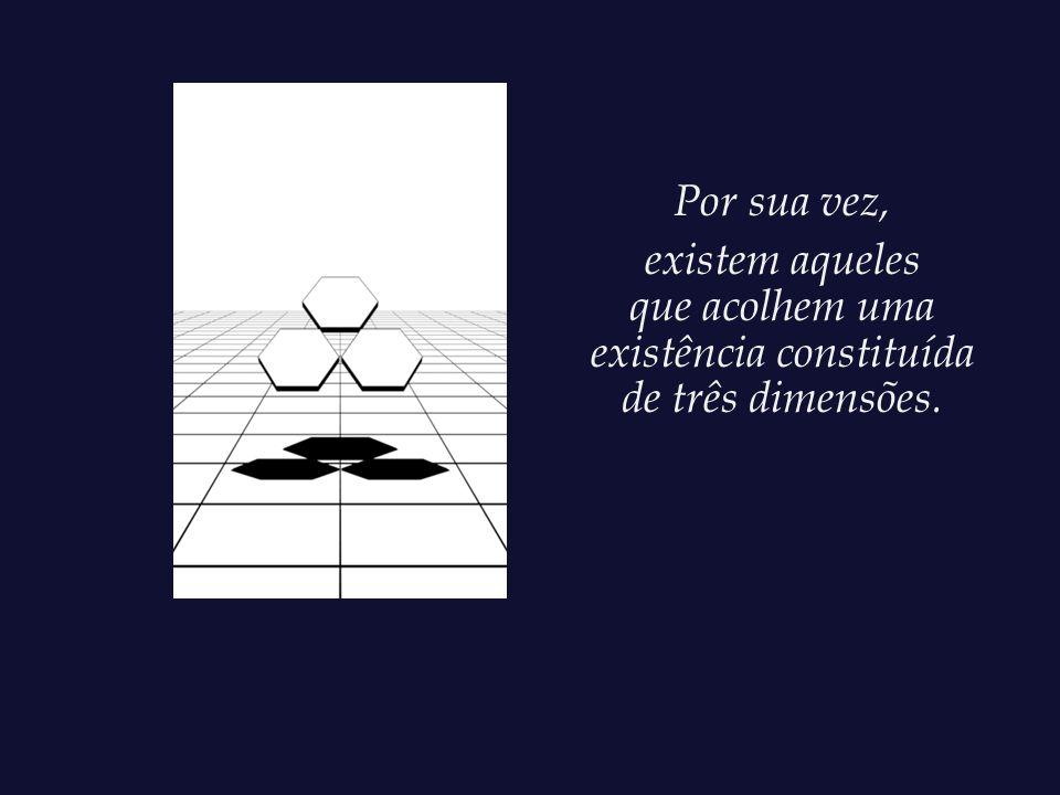 que acolhem uma existência constituída de três dimensões.