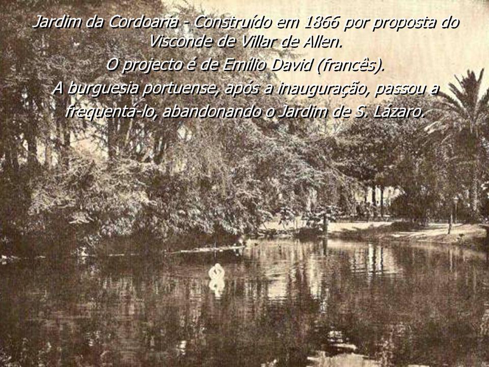 O projecto é de Emílio David (francês).