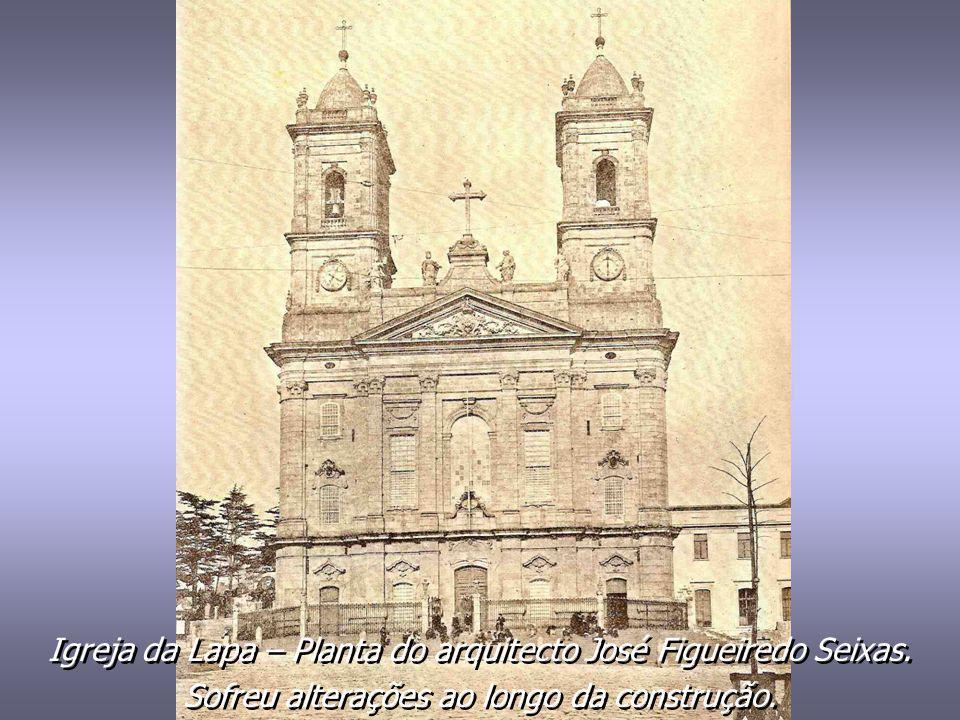 Igreja da Lapa – Planta do arquitecto José Figueiredo Seixas.
