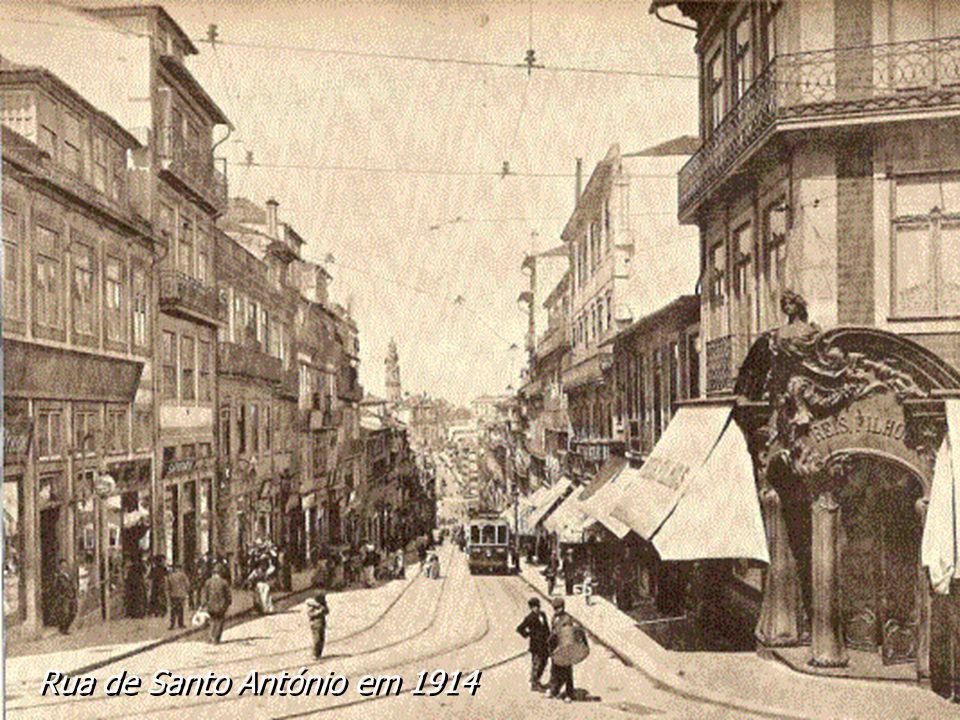 Rua de Santo António em 1914