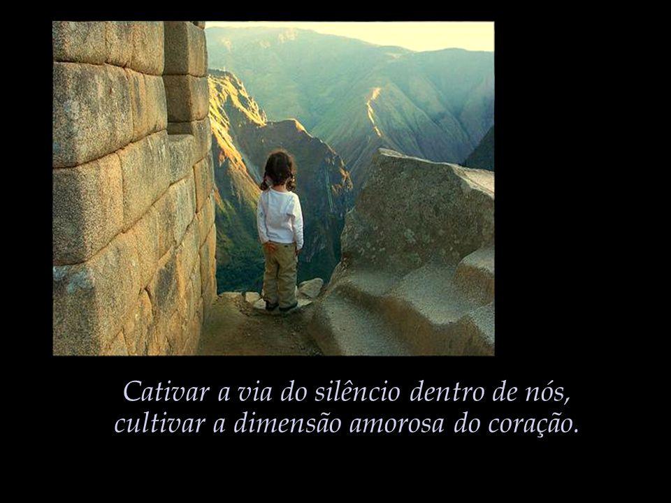Cativar a via do silêncio dentro de nós,