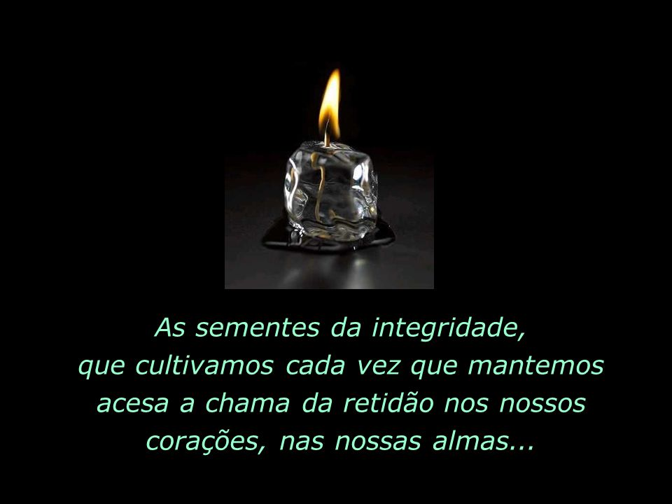 As sementes da integridade,