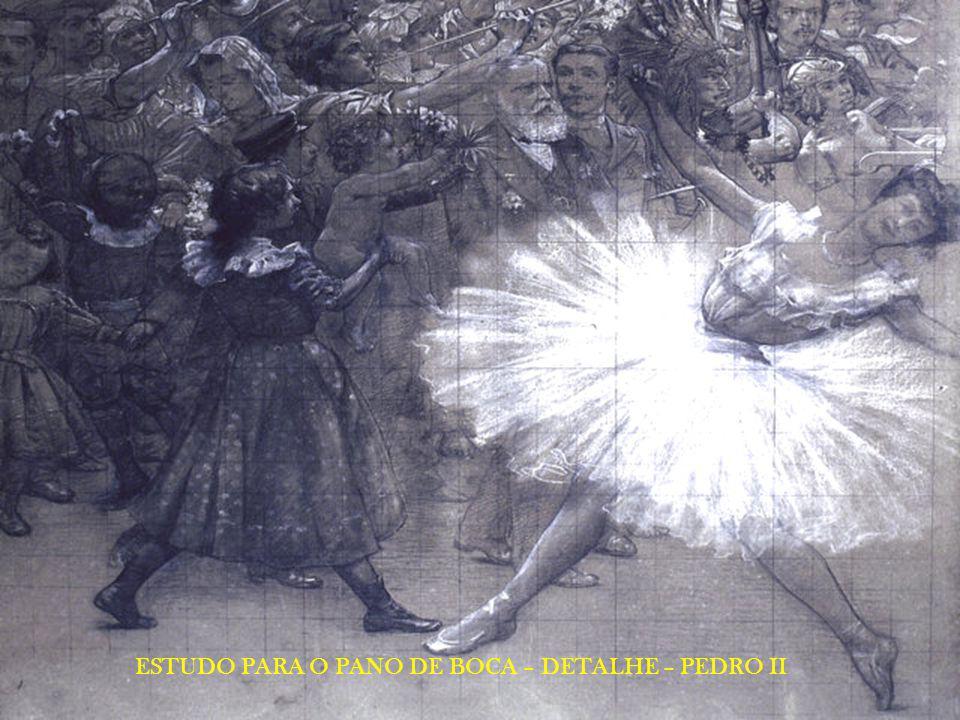 ESTUDO PARA O PANO DE BOCA – DETALHE – PEDRO II