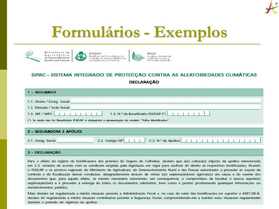 Formulários - Exemplos