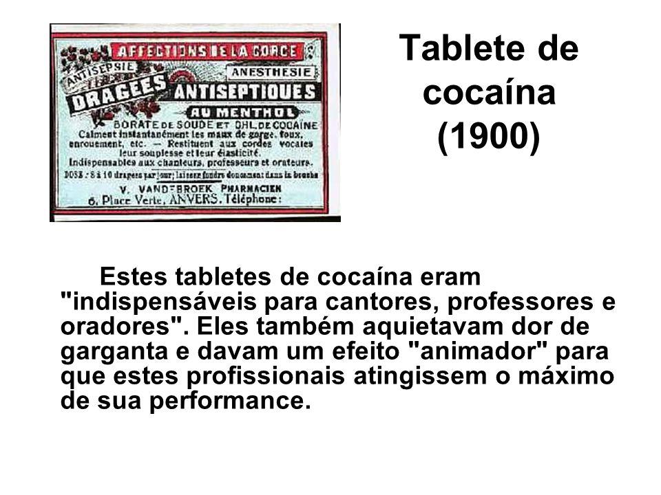 Tablete de cocaína (1900)