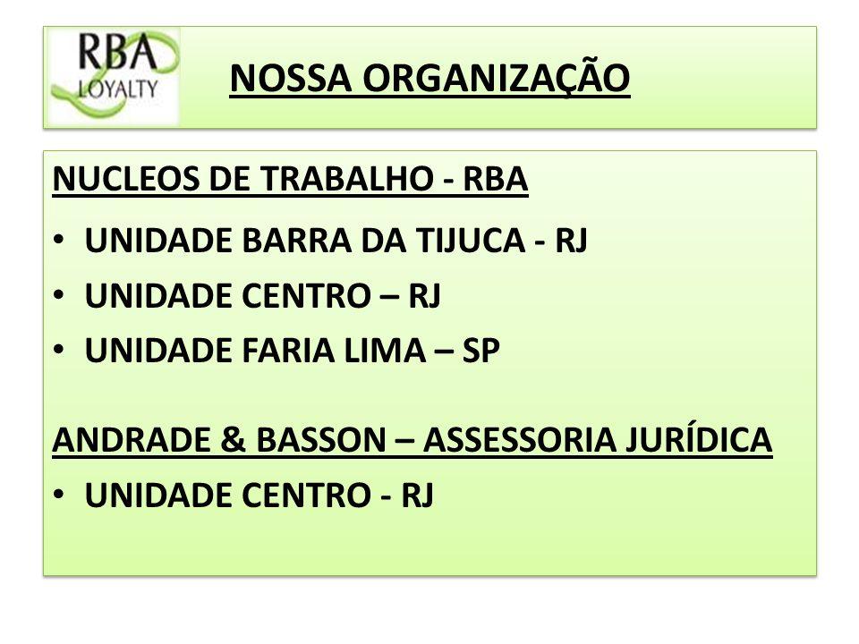 NOSSA ORGANIZAÇÃO NUCLEOS DE TRABALHO - RBA