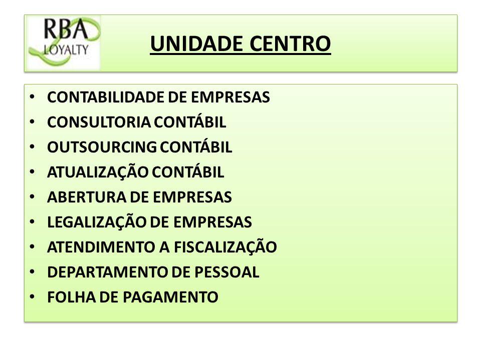 UNIDADE CENTRO CONTABILIDADE DE EMPRESAS CONSULTORIA CONTÁBIL